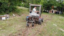 Kendi traktörünü yaptı, hedefinde kepçe var