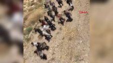 Van'da arazide topluca ilerleyen 113 kaçak göçmen yakalandı