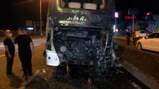 Diyarbakır'da terminalden çıkan otobüs yandı