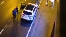 Ümraniye'de polis bıçaklı saldırganı vurdu