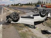 Ankara'da otomobil takla attı: 6 yaralı