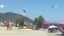 Balıkesir'de hortumdan kaçan vatandaşların görüntüsü