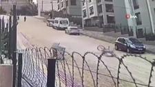 Bursa'da bisikletli genç taşlı yolda metrelerce sürüklendi