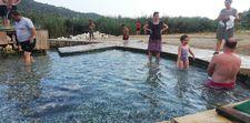 Antalya Demre'deki kükürtlü su havuzu soğukluğu ile meşhur