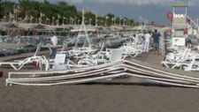 Antalya'da hortum sahili vurdu