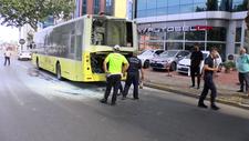 Ataşehir'de özel halk otobüsünde yangın paniği yaşandı