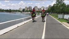 Atlı polislerden Caddebostan Sahili'nde koronavirüs denetimi