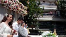 Keşan Belediye Başkanı, balkondan nikah kıydı