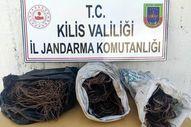 Kilis'te kablo hırsızları yakalandı
