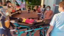 Kocaeli'de balkondan düşen çocuğu marketin tentesi kurtardı