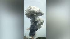 Almanya Leverkusen'de çöp depolama tesisinde patlama