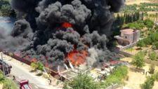 Gaziantep'te hurda deposunda yangın