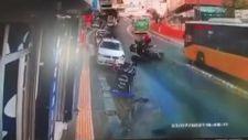 Sarıyer'de motosikletlilerin feci kazası