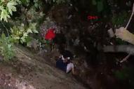 Bursa'da 4 metrelik duvardan dereye düşerek yaralandı