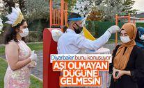 Diyarbakır'da korona tedbiri: 2 doz aşı olmayanlar düğüne davet edilmesin