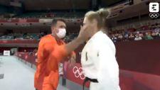 Antrenörü Alman judocu Martyna Trajdos'u tokatladı