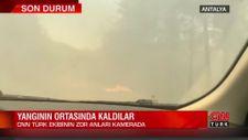 CNN TÜRK ekibi Manavgat'ta alevlerin içinde kaldı