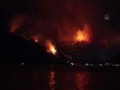 Marmaris'te çıkan orman yangınına müdahale ediliyor