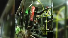 Üsküdar'da, otobüste maske kavgası