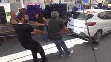 Avcılar'da pazara park edilen otomobile esnaftan operasyon