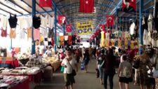 Edirne'de halk pazarında Bulgar turist yoğunluğu