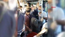 İstanbul'da maske takmayan çift otobüsten indirildi