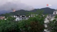 Marmaris'teki orman yangını devam ediyor