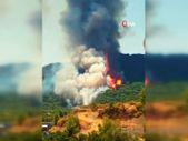 Marmaris'teki orman yangınının ilk başladığı ana ait görüntüler