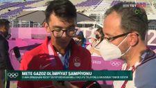 Cumhurbaşkanı Erdoğan, şampiyon olan Mete Gazoz'u tebrik etti