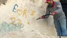 Frig Vadisi'nde sprey boya temizliği