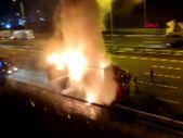 İstanbul'da tır yandı