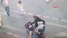 Şişli'de trafik ışıklarındaki hırsızlık kamerada