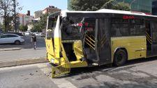 Ümraniye'de kamyonla otobüs çarpıştı
