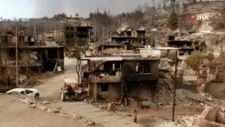 Antalya Manavgat yangınında yok olan Kalemler Mahallesi, havadan görüntülendi