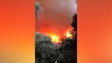 Bodrum Çökertme'de yangın