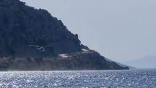 Marmaris'te bulunan Şahan Gökbakar'ın yardımına helikopter desteği