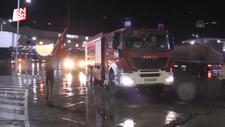 Azerbaycan'dan yangınla mücadeleye destek ekibi geldi