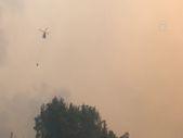 Gündoğmuş'taki orman yangınına havadan ve karadan müdahale