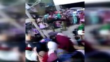 Kayseri'de nişan töreni sırasında davetlilerin üzerine balkon çöktü