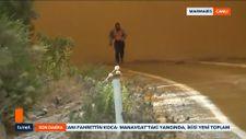 Marmaris'te alevlerin ortasından çıkan vatandaş