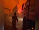 Mersin'de orman işçileri, yangına müdahale ederken alevlerin ortasında kaldı