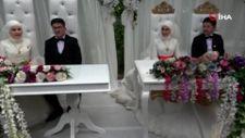 Ordu'da iki kardeş aynı düğünle evlendi
