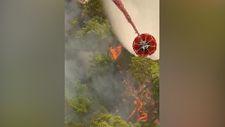 Orman yangınlarıyla mücadeleye havadan bakış
