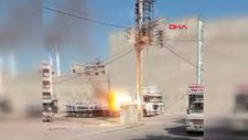 Şanlıurfa'da patlayan elektrik trafosu, panik yarattı