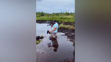 Suyun karşısına geçmeye çalışan adamın hazin sonu