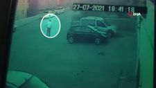 Başkent'te kundaklama olayı güvenlik kamerasına yansıdı