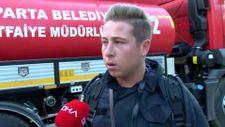 İzmir'de itfaiye eri balayını iptal edip söndürme çalışmalarına katıldı