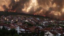 Kuzey Makedonya'da orman yangını çıktı