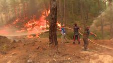 Manavgat'taki orman yangınına müdahale ediliyor