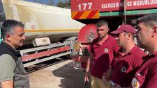 Marmaris'e giden Bekir Pakdemirli'den Sındırgı yangın ekibine teşekkür